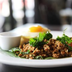 chicken leg minced meat and basil