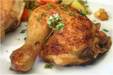 Organic chicken leg whole: Per half Kilo